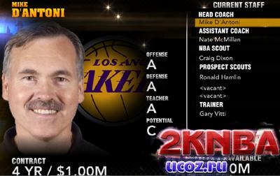 Официальный ростер NBA 2K13 (14.11.2012)