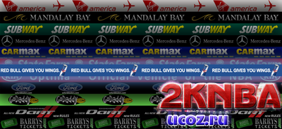 NBA 2K13 Рекламные щиты Лос-Анджелес Клипперс