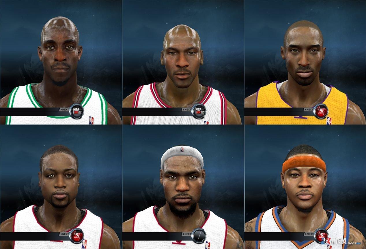NBA 2K12 Патч Lagoa Global with The Bourne,текстура, игрок, черный